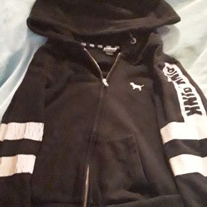 Black VS PINK zip up hoodie
